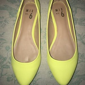 Yellow Ballet Flats Size 6